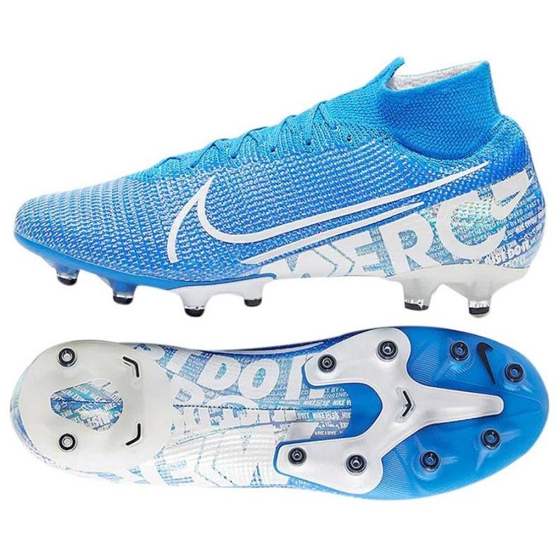 Buty Nike Mercurial Superfly 7 Elite Ag Pro M AT7892 414 niebiesko białe niebieskie biały, niebieski