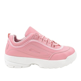 Różowe obuwie sportowe sneakersy GL808