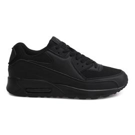 Czarne Sportowe Trampki Adidasy 6631-10 Czarny