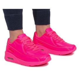 Różowe Sneakersy B503-3 Różowy