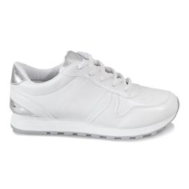 Białe Sportowe Trampki H7220 Biały