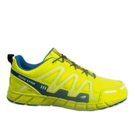 Żółte Sportowe Trampki Adidasy RS82716-4M GREEN/BLUE