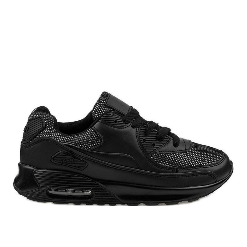 Czarne obuwie sportowe sneakersy B306A-61S