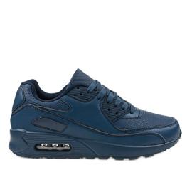 Granatowe obuwie sportowe A939-3