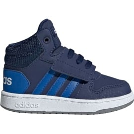 Granatowe Buty dla dzieci adidas Hoops Mid 2.0 EE6714