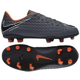Buty piłkarskie Nike Hypervenom Phantom Iii Club Fg Jr AH7290-081 szare wielokolorowe