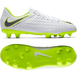 Buty piłkarskie Nike Hypervenom Phantom 3Club Fg Jr AJ4146-107 białe