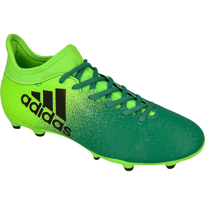 Buty piłkarskie adidas X 16.3 Fg M BB5855 zielony zielone