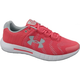 Czerwone Buty biegowe Under Armour Micro G Pursuit Bp W 3021969-600