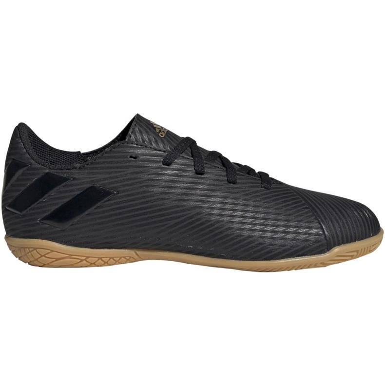 Buty piłkarskie adidas Nemeziz 19.4 In Jr EG3314 czarny czarne