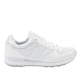 Białe męskie obuwie sportowe 5535A-1