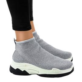Szare obuwie sportowe z gumką LA33P