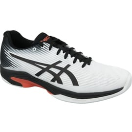 Biały Buty do tenisa Asics Solution Speed Ff Indoor M 1041A110-102