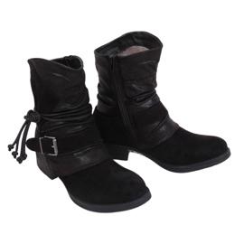Botki militarne czarne 201802-11B Black