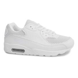 Czarne Wysokie Sneakersy W-26 Biały