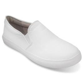Białe Wsuwane Trampki Classic Slip On Q1-41 Biały