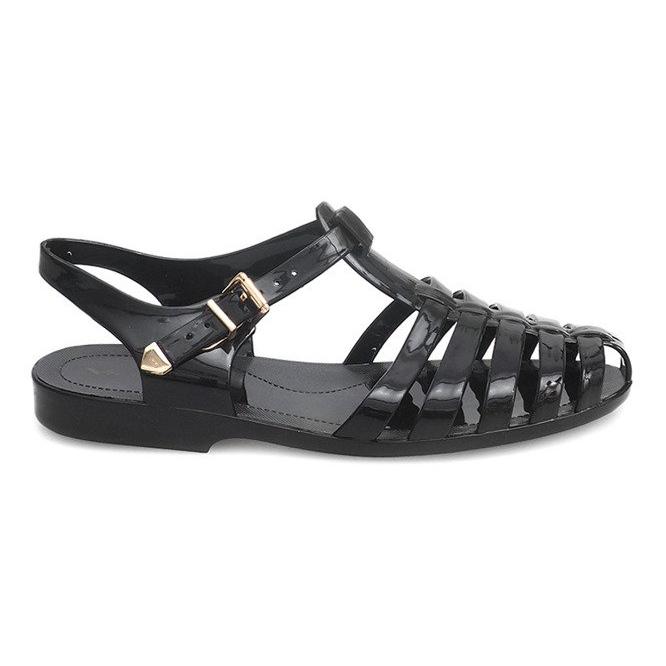 Sandały Rzymianki Meliski PT36 Czarny czarne