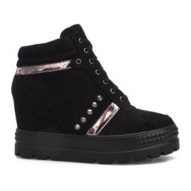 Czarne zamszowe sneakersy Maxime
