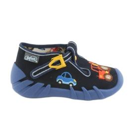 Granatowe Befado obuwie dziecięce 110P347