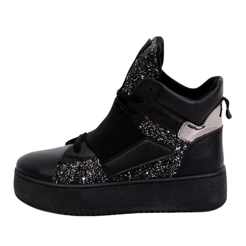 Trampki sneakersy czarne LA56 Black