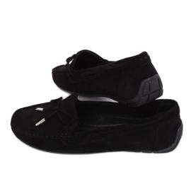 Mokasyny damskie czarne R812 Black