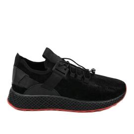 Czarne obuwie sportowe męskie GM807