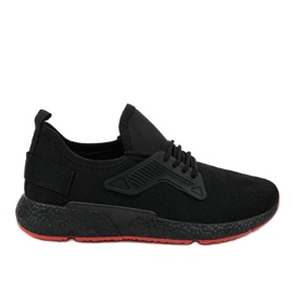 Czarne obuwie sportowe sznurowane WB800