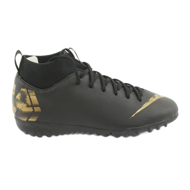 Buty piłkarskie Nike Mercurial SuperflyX 6 Academy Gs Tf Jr AH7344-077 czarne