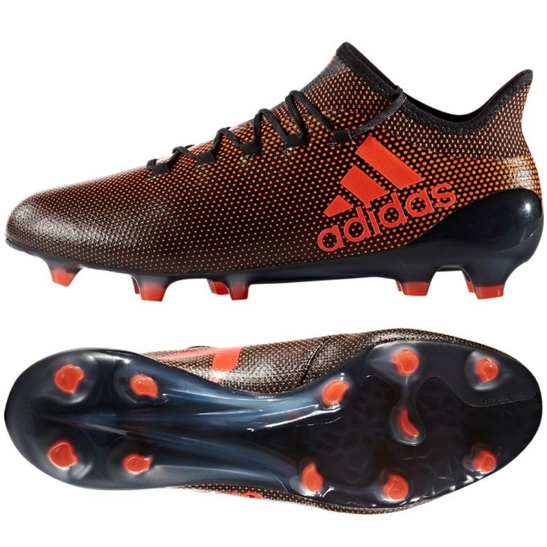 Buty adidas X 17.1 Fg M S82288 czarno czerwone czarne czarny, czerwony