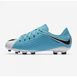 Buty Nike Hypervenom Phelon Iii Fg Jr 852595 104 niebieskie