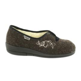 Befado obuwie damskie pu 940D356 brązowe