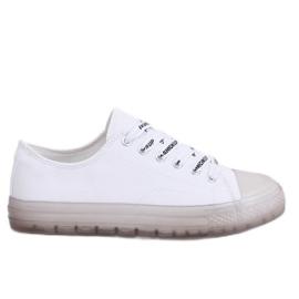 Trampki damskie biało-szare B111-2 WHITE/GREY białe