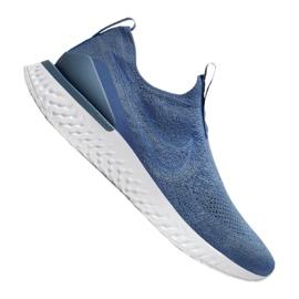 Buty Nike Epic Phantom React Flyknit M BV0417-401 niebieskie