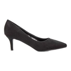 Ideal Shoes Wygodne Czółenka Na Szpilce czarne
