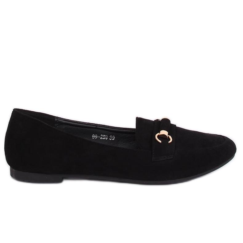 Mokasyny damskie czarne 99-259 Black
