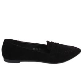 Mokasyny damskie czarne 99-262 Black