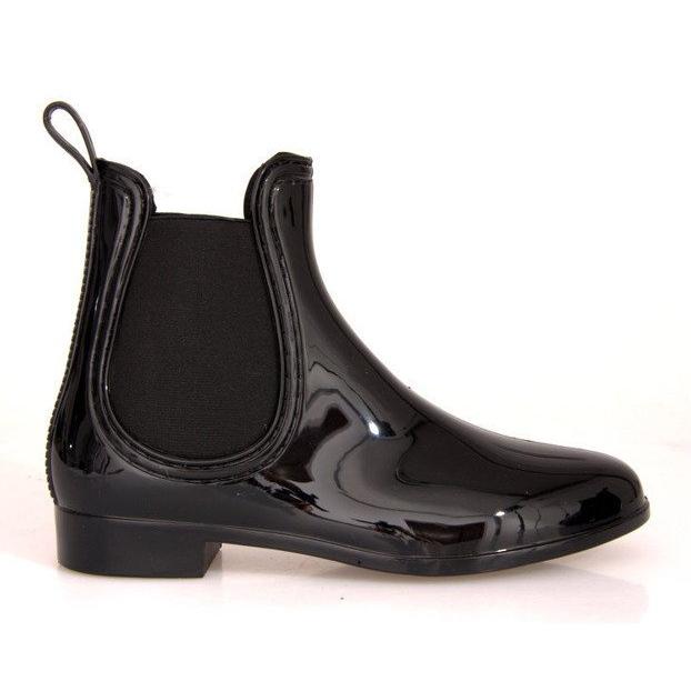 Krótkie Kalosze Z Gumką SD98 Czarny czarne