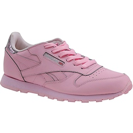Buty Reebok Classic Leather Metallic Jr BD5898 różowe
