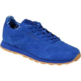 Niebieskie Buty Reebok Classic Leather Tdc Jr BD5052