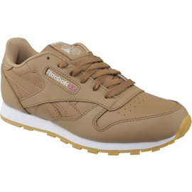 Brązowe Buty Reebok Classic Leather Jr CN5610