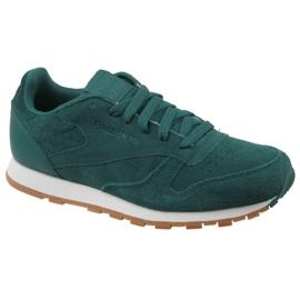 Zielone Buty Reebok Cl Leather Sg JRCM9079