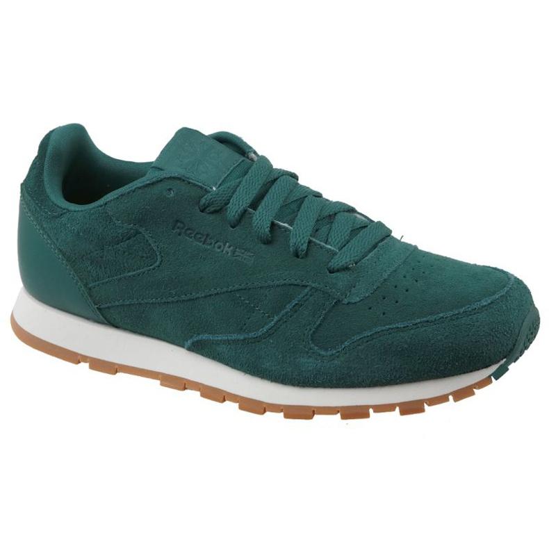 Buty Reebok Cl Leather Sg JRCM9079 zielone