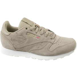 Szare Buty Reebok Cl Leather Mcc Jr CN0000