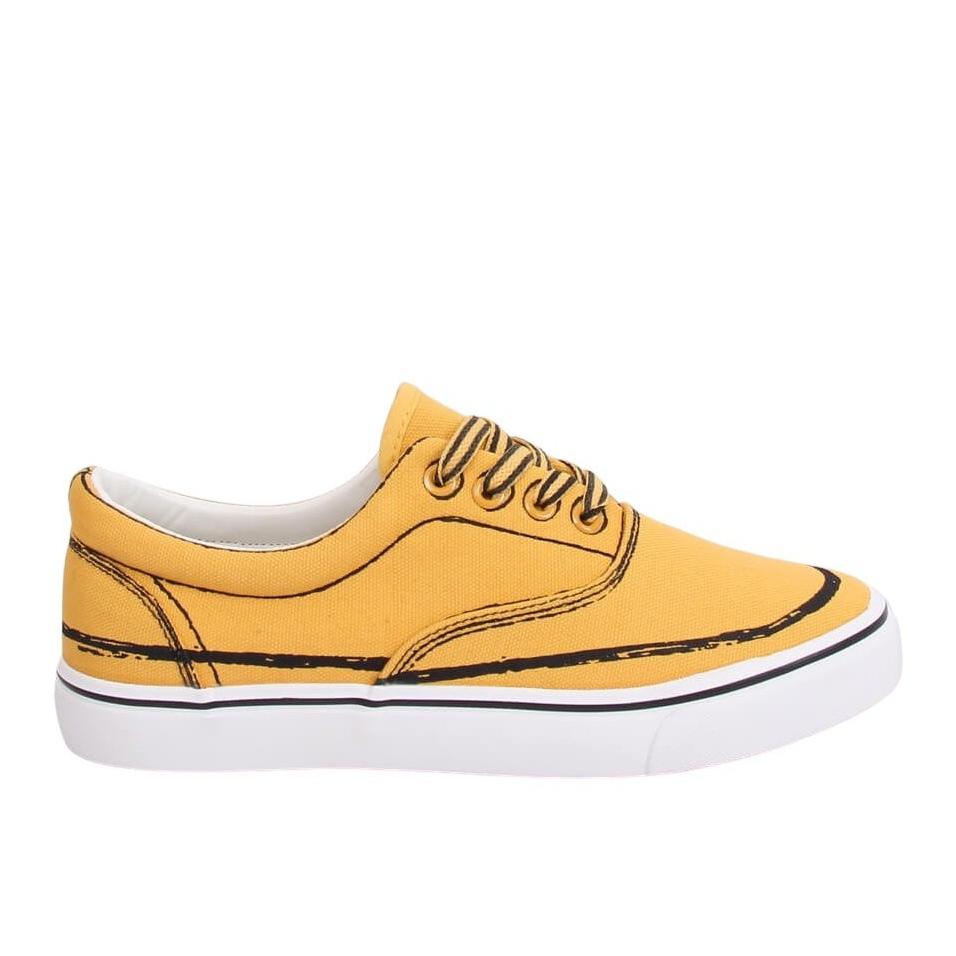 Trampki damskie żółte BS103 Yellow