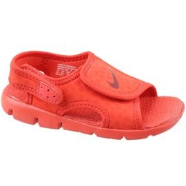Czerwone Sandały Nike Sunray Adjust 4 Ps Jr 386518-603