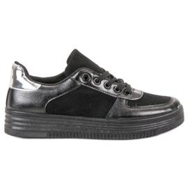 Jumex Wiązane Buty Sportowe czarne