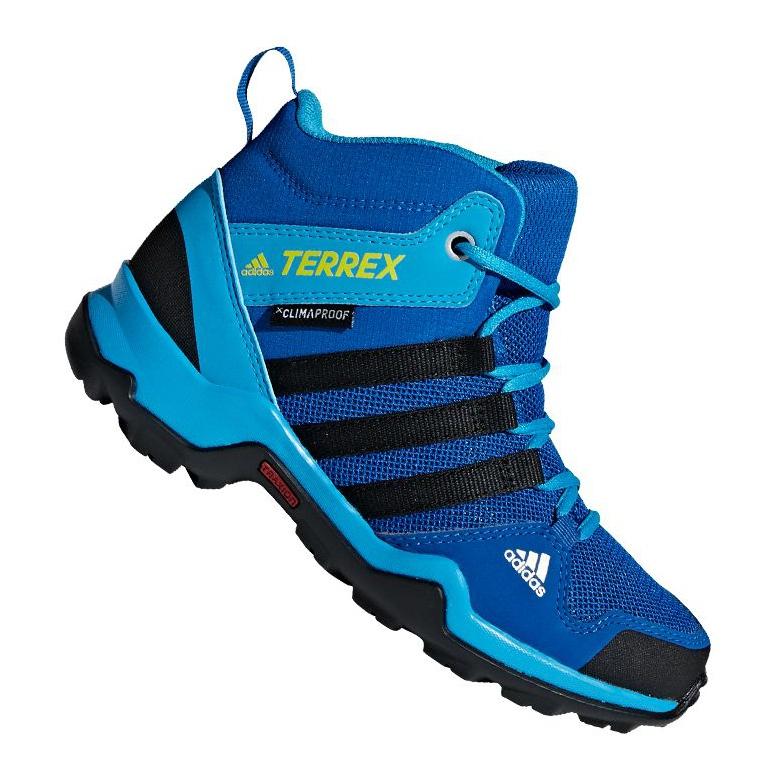 Buty adidas Terrex AX2R Mid Cp Jr BC0673 niebieskie wielokolorowe