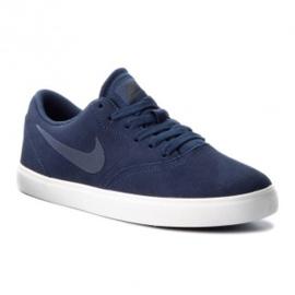 Granatowe Buty Nike Sb Check Suede Jr AR0132-400