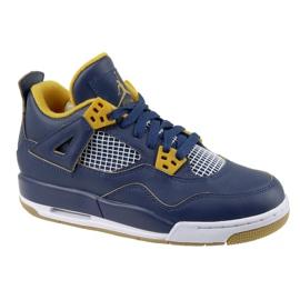 Nike Jordan Buty Jordan 4 Retro Bg Jr 408452-425 granatowe