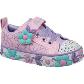 Różowe Buty Skechers Daisy Lites Jr 10965N-PKMT